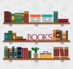摆满书籍的书架