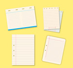 空白单页纸张