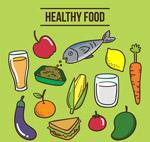 彩色健康食物