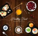 健康食物的餐桌