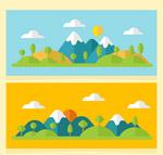 雪山风景banner