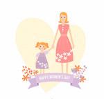 母女妇女节贺卡