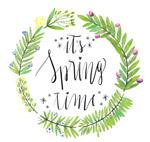 花环装饰春季艺术字