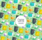 咖啡杯无缝背景