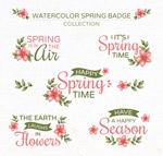 春季花卉徽章