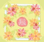你好春季花卉框架
