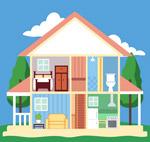 双层住宅内部图