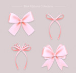 粉色丝带蝴蝶结