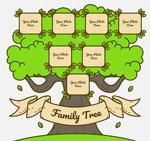彩绘绿色家族树