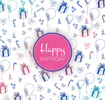 生日礼盒气球背景