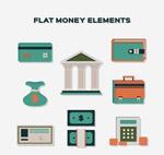 扁平化金融图标