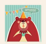 棕熊生日祝福卡