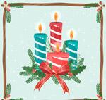 条纹节日蜡烛