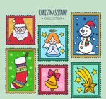 彩绘圣诞元素邮票