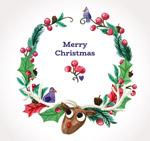 圣诞驯鹿花环