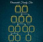 家族树金边框架