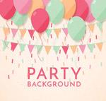 派对气球和三角拉旗