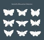 白色蝴蝶剪影