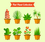 扁平化绿色盆栽