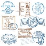 航海类邮戳图标