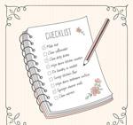 清单本和铅笔