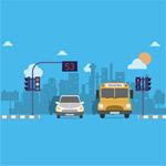 道路路口和车辆