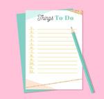 空白清单和铅笔