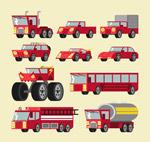红色车辆矢量