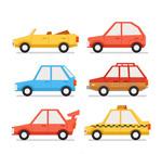 彩色车辆设计矢量