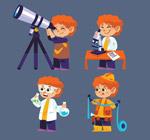 橙色头发男孩