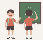 上学男孩设计