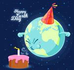 卡通世界地球日