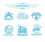 蓝色车辆元素标志