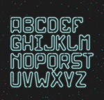 霓虹灯字母