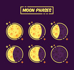 彩绘月相变化