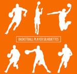 篮球男子剪影
