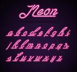 彩色霓虹灯字母