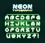 绿色霓虹灯字母