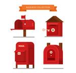 红色邮筒设计