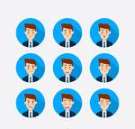 商务男子表情头像