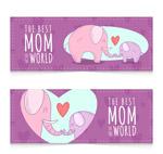 大象母亲节banne