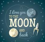 月球和火箭爱的隽语