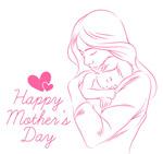 怀抱婴儿的母亲