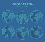 蓝色地球地图