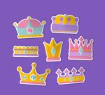 彩色王冠贴纸
