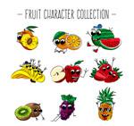 彩色表情水果