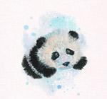 水彩绘可爱熊猫