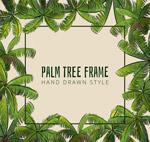 绿色棕榈树框架
