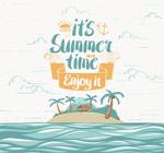 夏季度假岛屿海报
