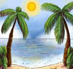 大海和棕榈树风景
